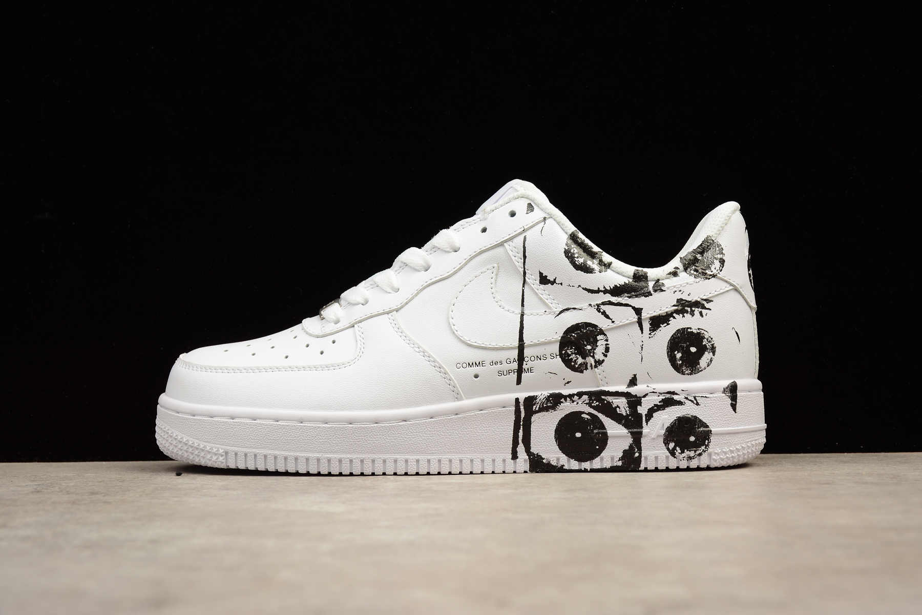 73ba3f6a751a SUPREME X CDG NIKE AIR FORCE 1 AF1 Low White Casual Shoes ...