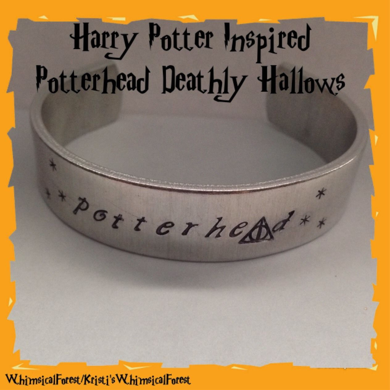 Harry Potter Inspired Potterhead Deathly Hallows Symbol Hand Stamped