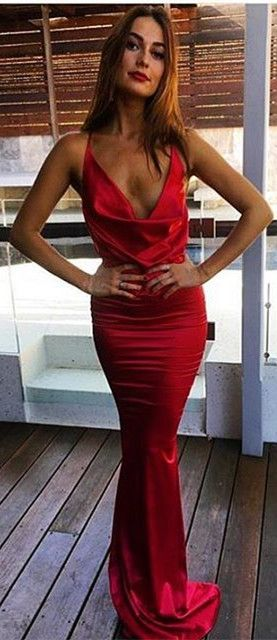 Tight Red Prom Dress
