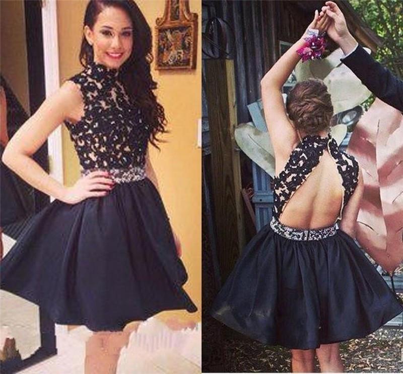Black Homecoming Dress,Short Homecoming Dress,Graduation Dress ...