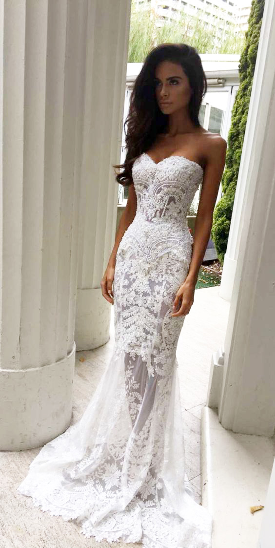 Sweetheart wedding dresses strapless images