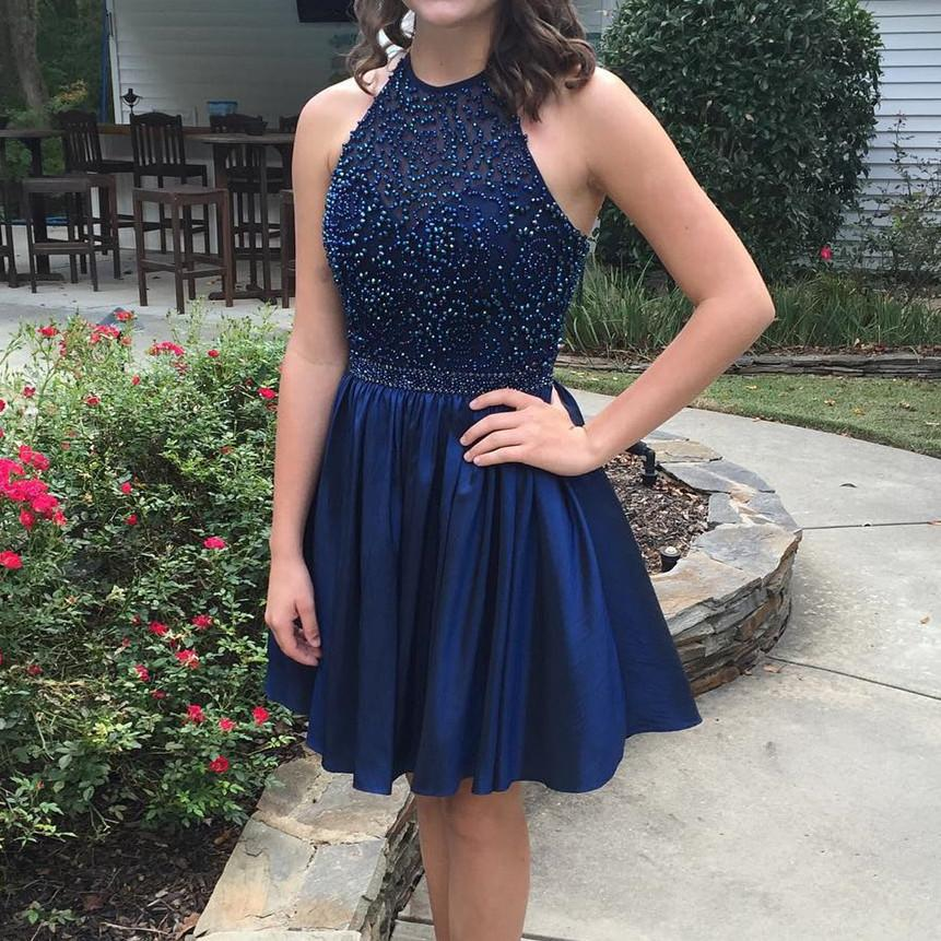 Halter Dresses Short Prom