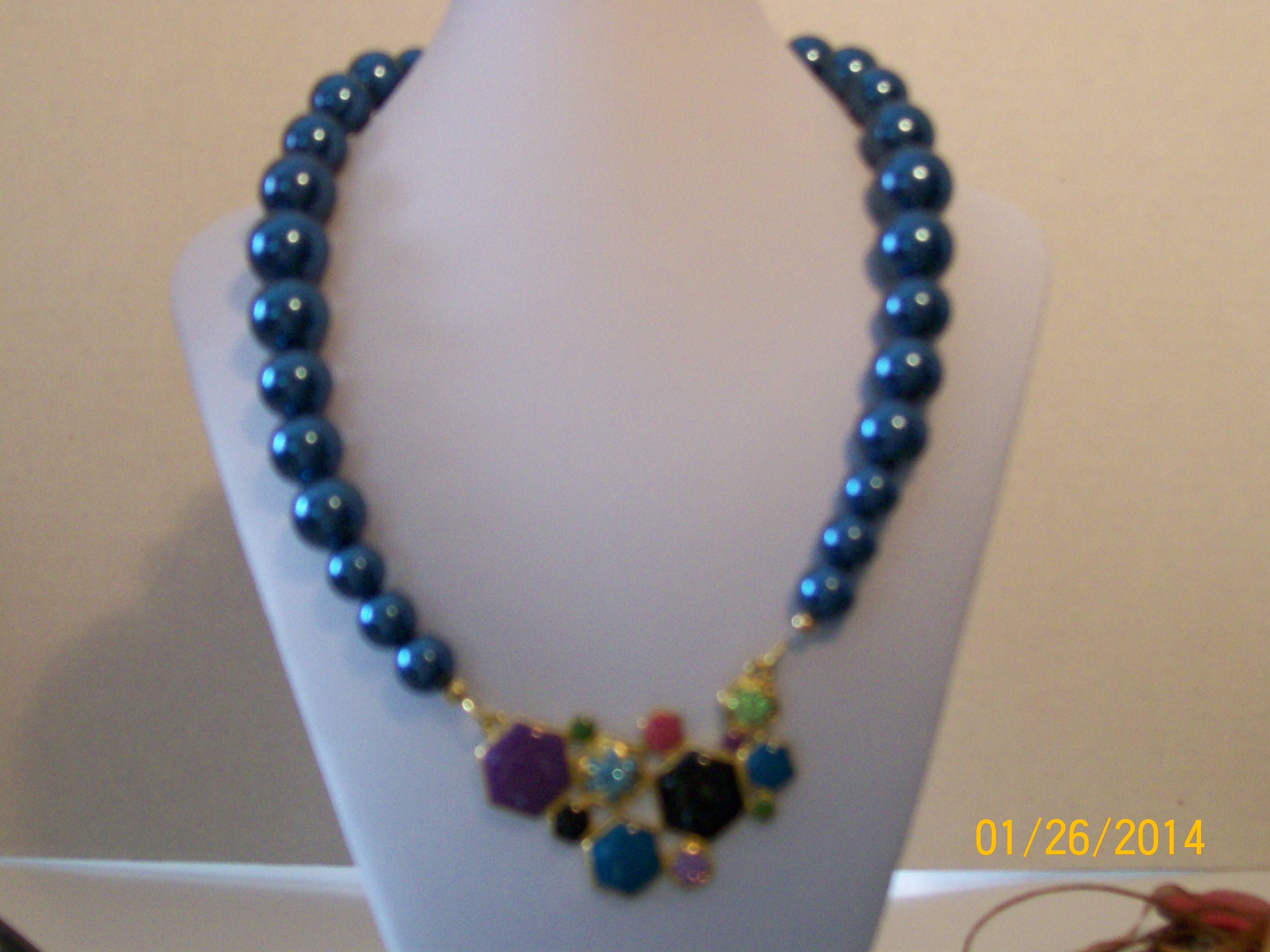 platinum blue necklace silver cubic finish sterling in zirconia and drop crislu cobalt sugar white with