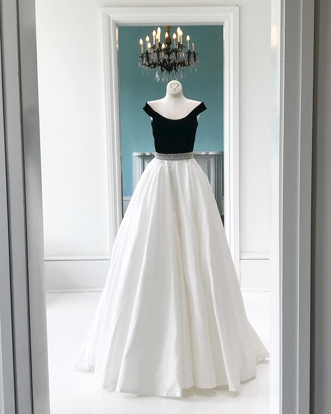 Simple white off shoulder long prom dress, evening dresses · Dreamy ...