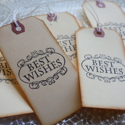 Wishing tags - gift tags - set of 10 - best wishes design