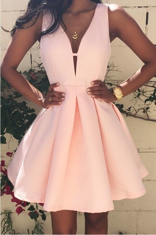 Pink Prom Gown, Sexy Satin Mini Cocktail Dress,Short Homecoming ...