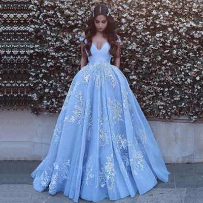 2019 Tulle Prom Dresses A Line Scoop Neck With Applique