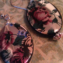 Vintage Flower Reflection Earrings