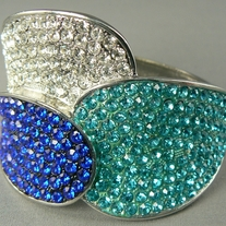 Crystal Teal/Blue Ring