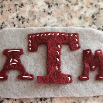 Texas A&M Aggie Felt Clip