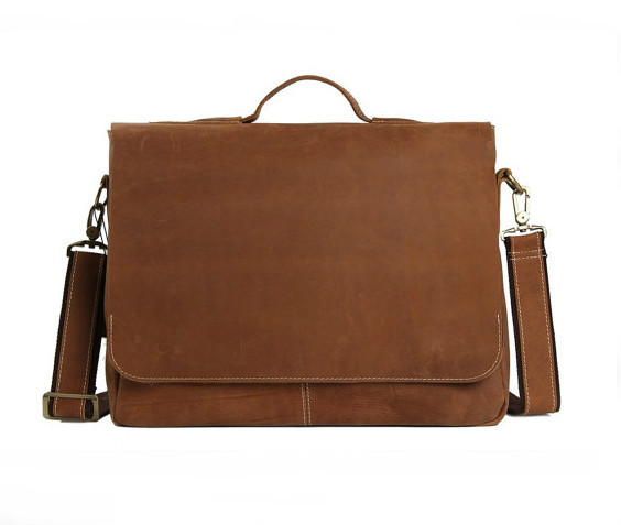 """Retro Men/'s Leather 14/"""" Laptop Business Briefcase Shoulder Messenger Bag Handbag"""