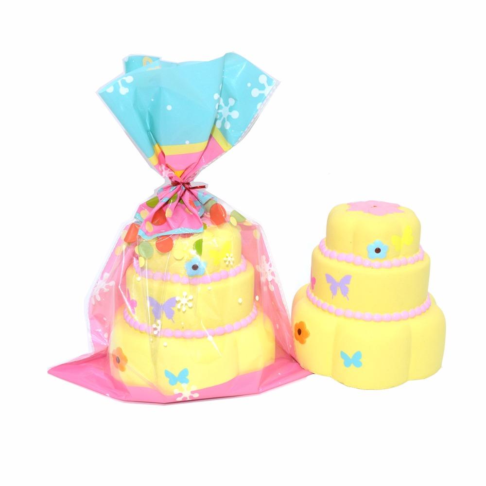 Squishy Licensed Jumbo : Jumbo Butterfly Cake 3 Layer Squishy Charm Kiibru Licensed ? Kawaii Squishy Shop ? Online Store ...