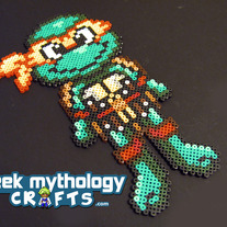 Michelangelo Teenage Mutant Ninja Turtles Chibishou Perler Bead Sprite