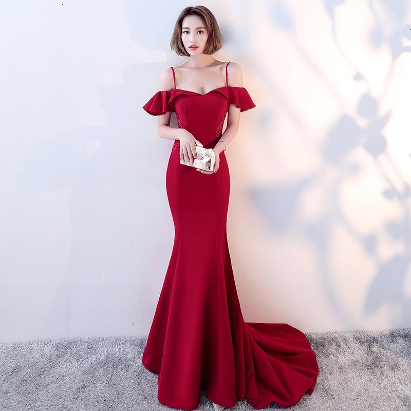 Of Girl Elegant Burgundy Long Prom Dress Burgundy Evening Dress