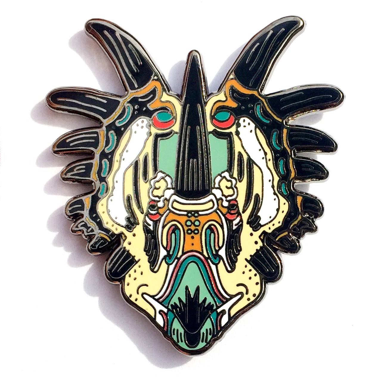 Styracosaurus Enamel Pin
