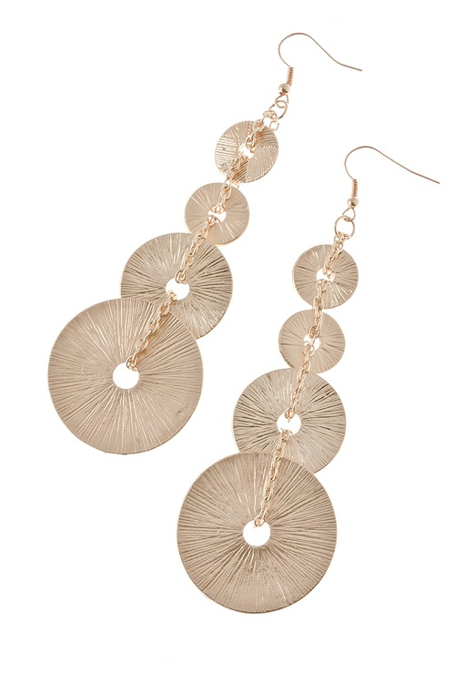 Round Textured Link Earrings 183 Sophisticates Closet 183 Online Store Powered By Storenvy