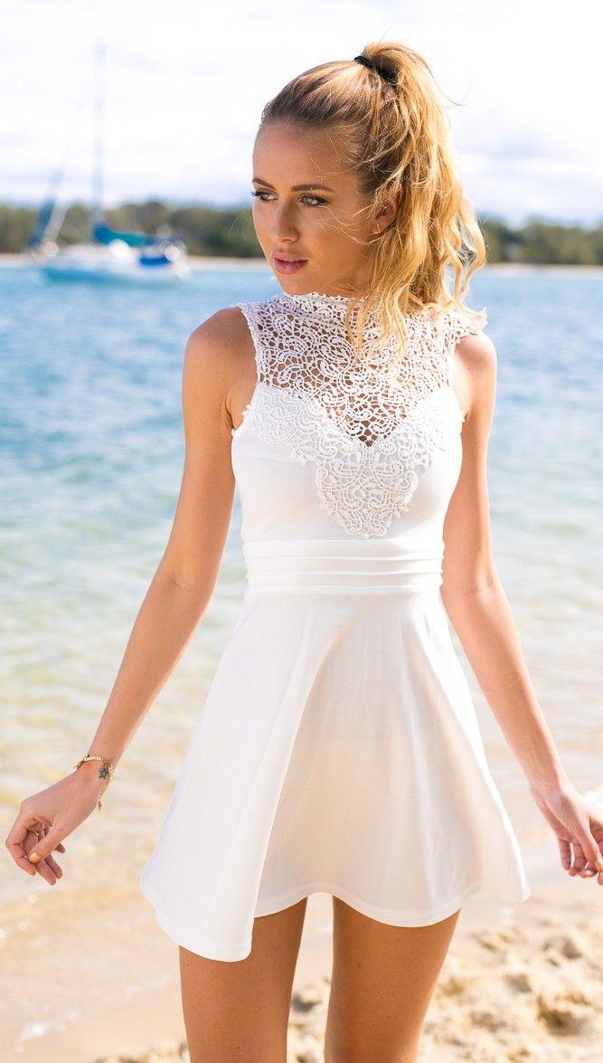 White Prom Dress,Lace Prom Dress,Fashion Homecoming Dress,Sexy Party ...