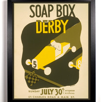 Image of Soap Box Derby, Giclee Art Print, 8 x 10