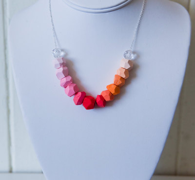 Coral to Creamsicle Gradient Necklace