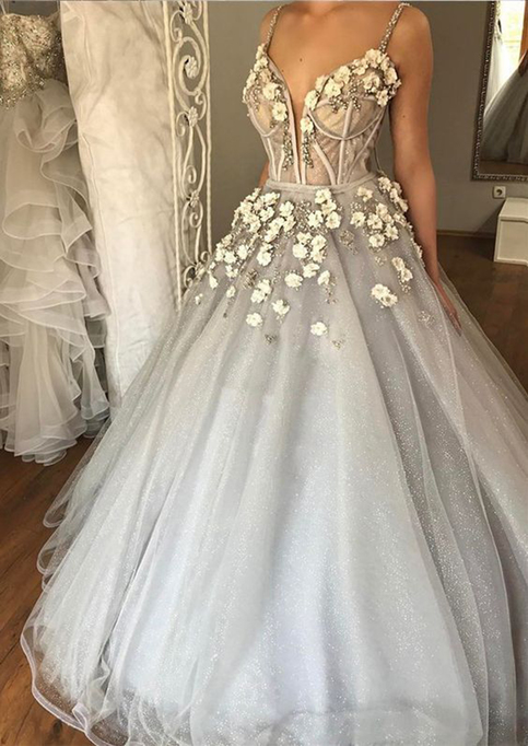 Fizz skill set: White Prom Dress With Flowers On Top ...
