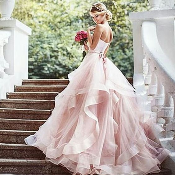 Pink Wedding Gown: 2018 New Fashions Ball Gown Prom Dresses Formal Dress