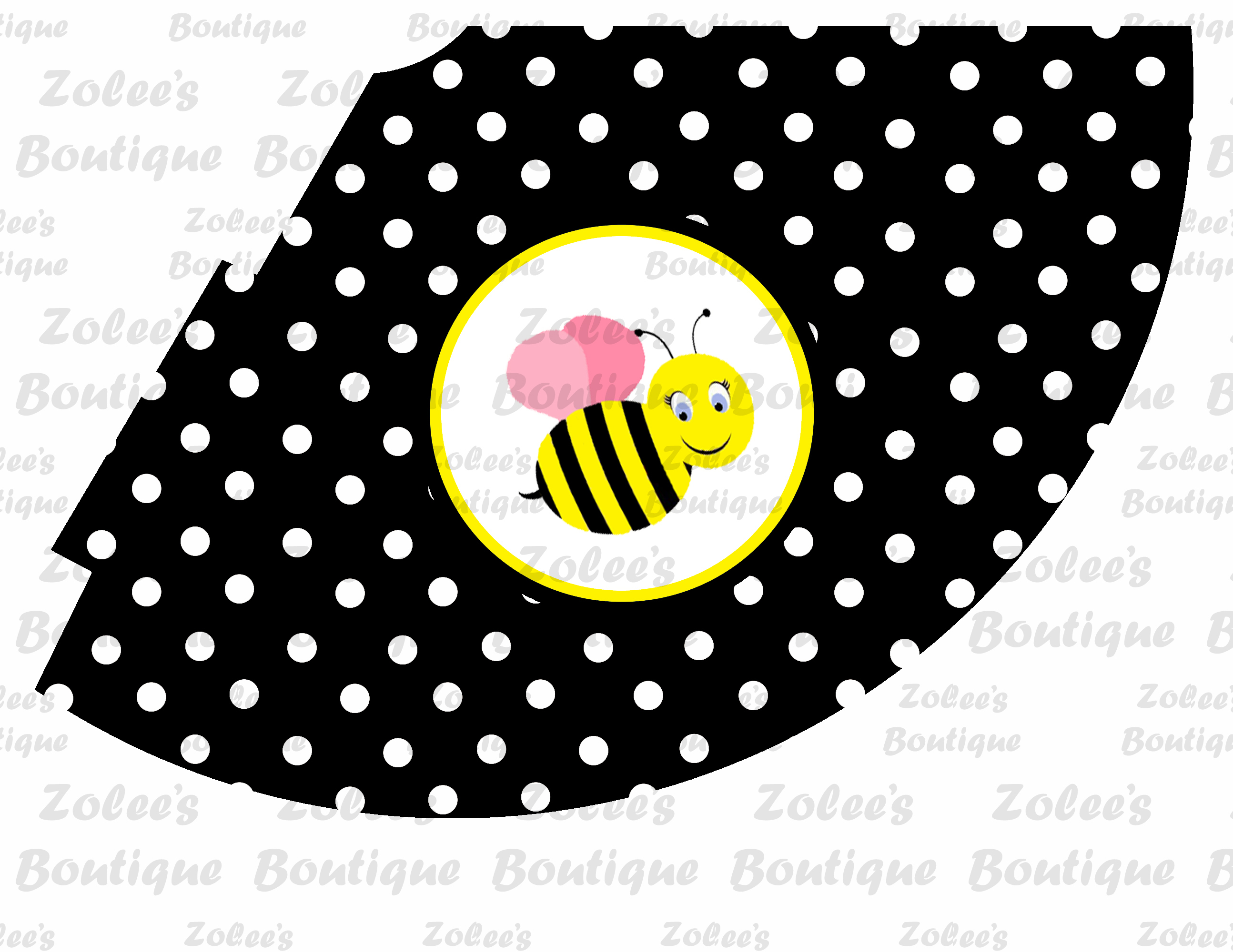 bumble bee theme black printable party package dream party
