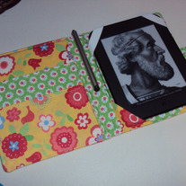 Handmade Kindle or Nook Cover Yellow Flowers