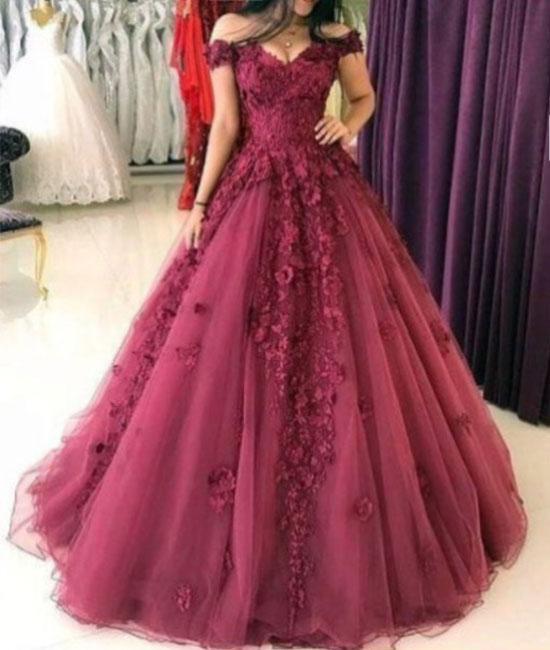 Cap Sleeve Tulle Quinceanera Dress, 2018 Quinceanera Dresses ...