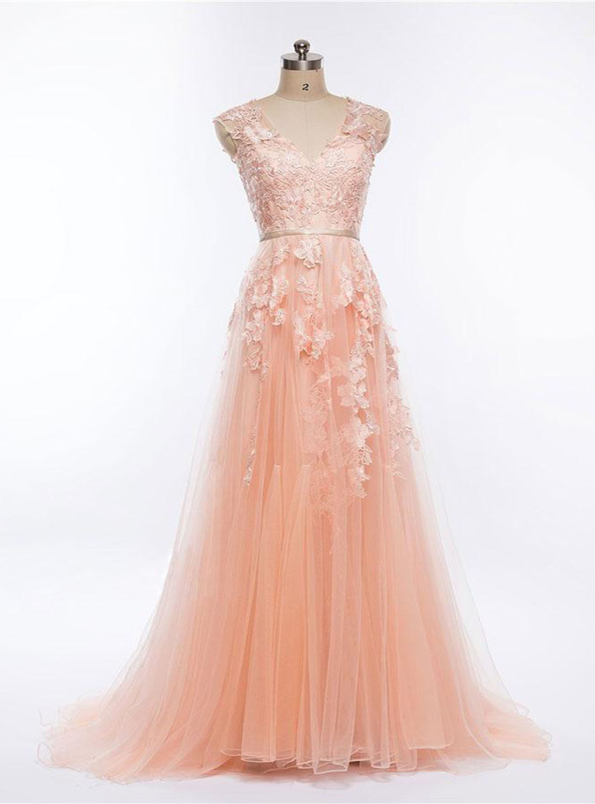 Cheap prom dresses by sweetheartdress pretty blush pink v neck pretty blush pink v neck long halter senior prom dress long bridesmaid dress with 3d ombrellifo Choice Image