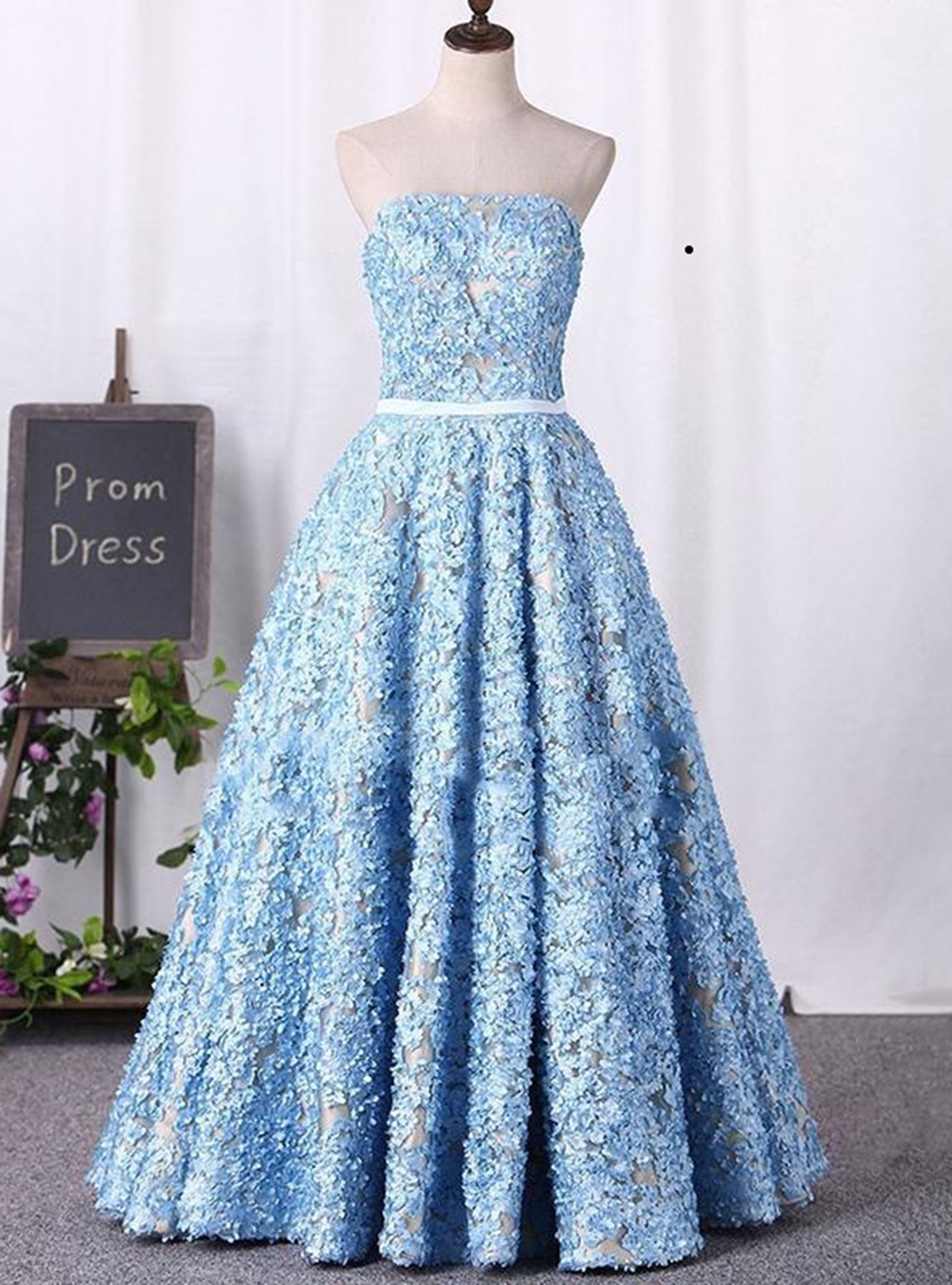 Cheap Prom Dresses by SweetheartDress · Sweetheart neck blue lace ...