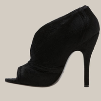 Elizabeth and James 'E-Shine' Calf Hair Black Bootie SZ 6