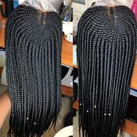 Half cornrows box braids wig  - Thumbnail 1