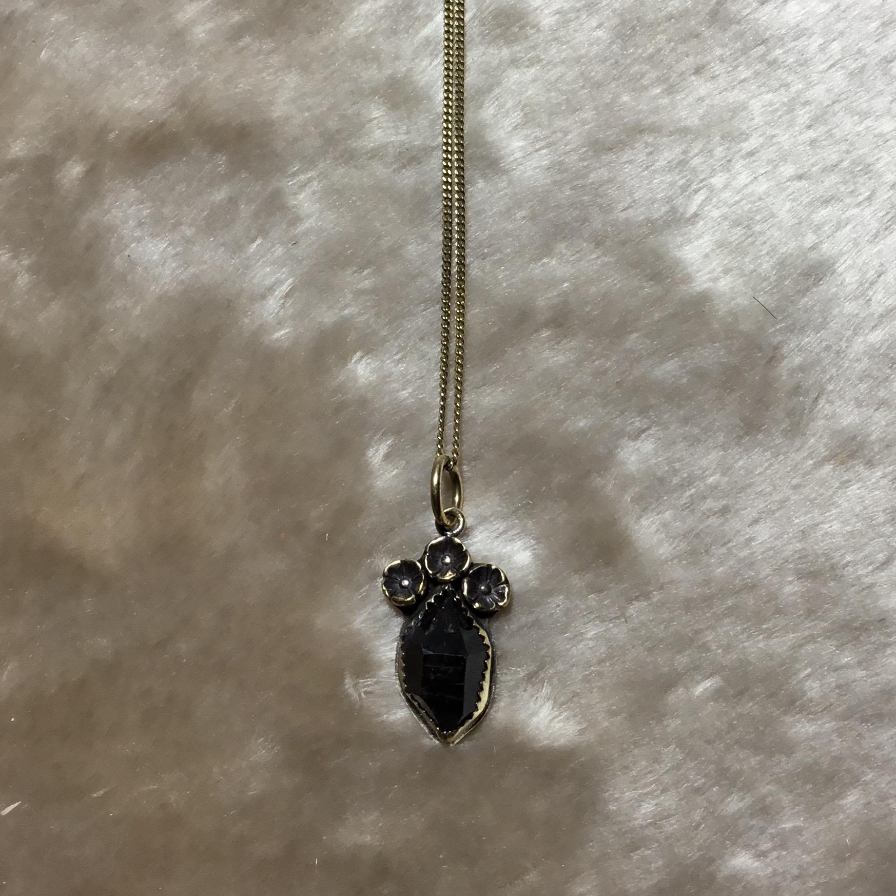Floral crown crystal pendant in brass rish jewelry online store floral crown crystal pendant in brass aloadofball Gallery