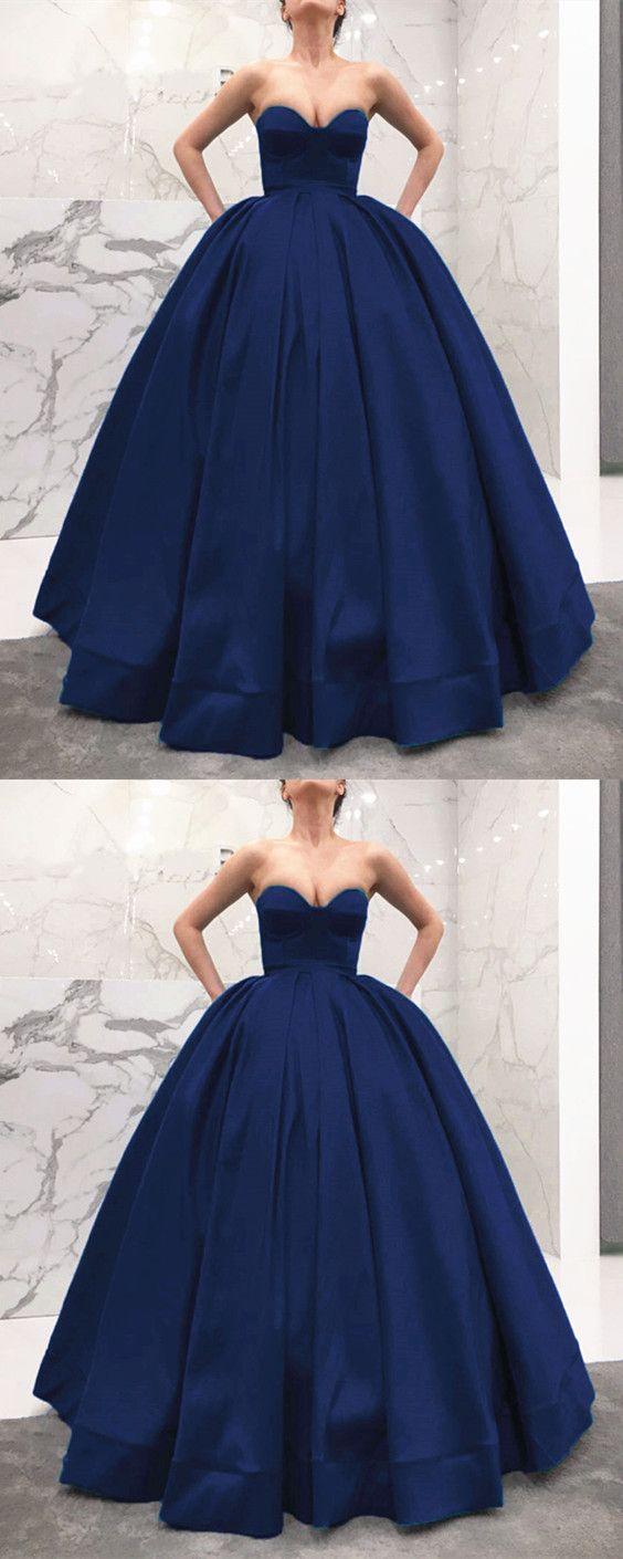 long prom dresses,ball gown evening dress,navy blue bridesmaid dress ...