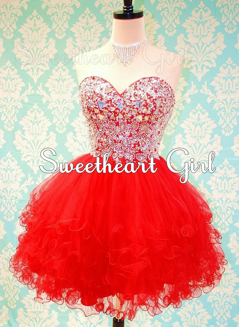 Sweetheart Girl | Cute sweetheart mini ball gown prom dress ...