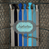 the blues : headband {knotieties} 5 pack