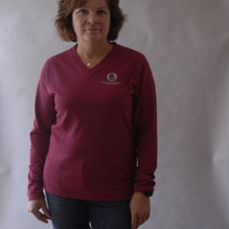 Brisk, Sangria Sweater LS V-neck