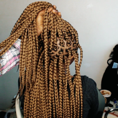 Crochet box-braids