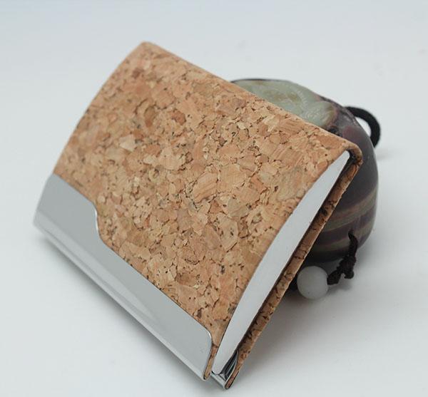 cork card case holder business card holder bifold card wallet card case mens wallet mens men - Bifold Card Holder
