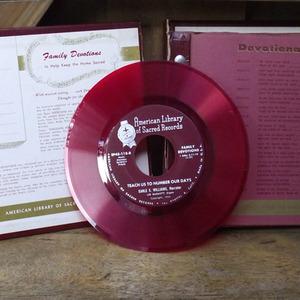 Red Vinyl Record Set 1950s