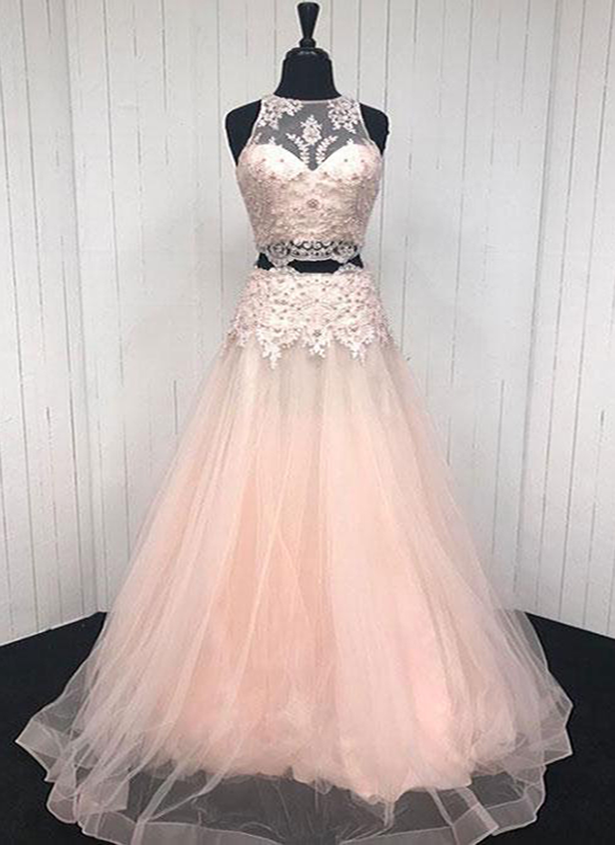 Cheap Prom Dresses by SweetheartDress · Elegant pink V tulle two ...