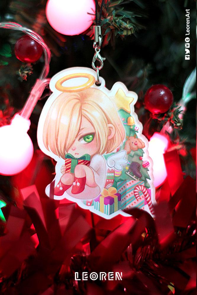 CLEARANCE SALE] Yuri on Ice - Yuri on Christmas keychain / strap ...