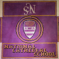NCS, National Cathedral School Brick Cover Canvas on 13 Mesh