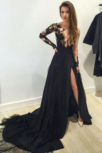 Stunning sparkly Evening Gowns Long sleeve
