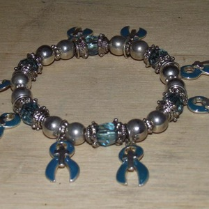 Teal Ovarian Cancer Awareness Bracelet