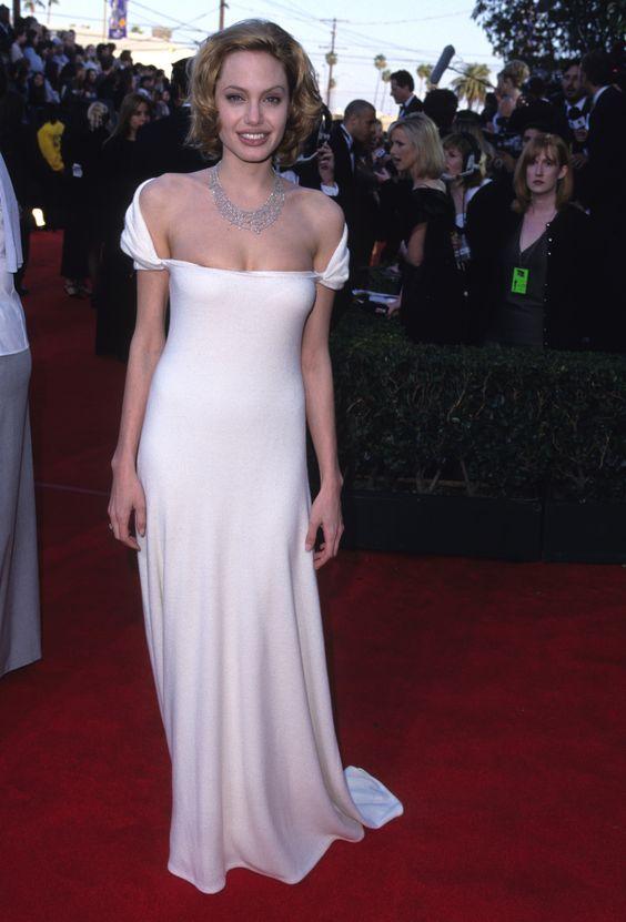 Inspired by Angelina Jolie Simple Celebrity Dresses Off the Shoulder ...