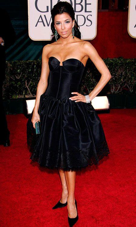 Inspired by Eva Longoria Black Celebrity Dresses Ball Gown ...