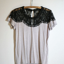 Scalloped Lace Shirt
