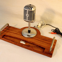 iPad - iPhone - iPod - Dock - Sync and Charging Station- Oak - Microphone
