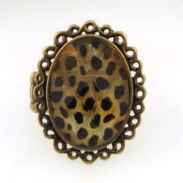 Antiqued Gold Animal Print Ring